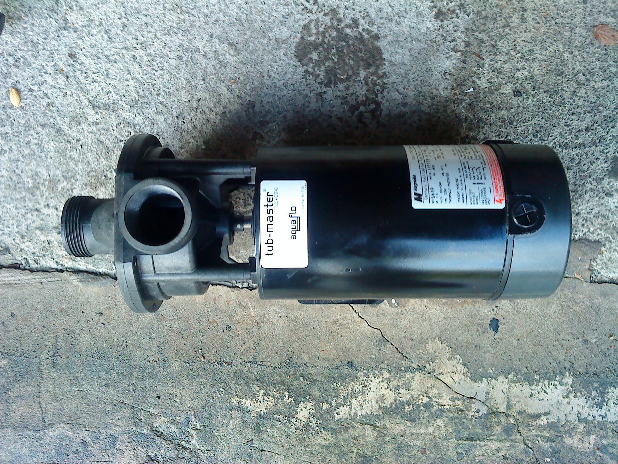 Aqua flo tub master century 1 5hp pool spa pump duty motor for Century pool spa motor